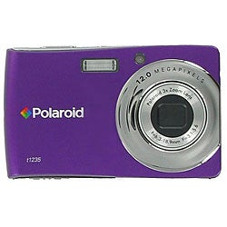 Polaroid T1235 12-MP Purple Digital Camera with 3-inch Touch Screen LCD