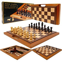 Checkers/ Chess/ Backgammon Game Set