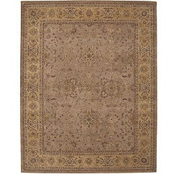 Nourison Hand-tufted Heritage Hall Green Rug (12' x 15')