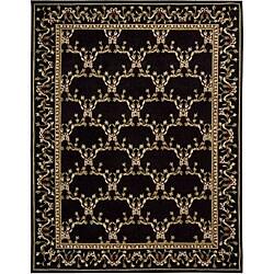 Nourison Hand-tufted Lisette Black Wool Rug (8' x 10'6)