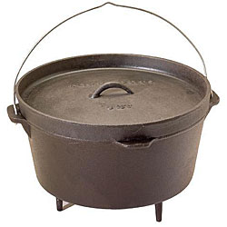 Texsport Pre-Seasoned 8-quart Cast Dutch Oven
