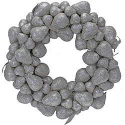 Silver Glitter Pear Wreath