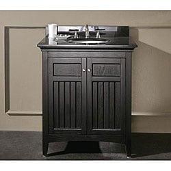 Silkroad exclusive granite top 55 inch double sink vanity cabinet - Madison Vanity Set 12374093 Overstock Com Shopping
