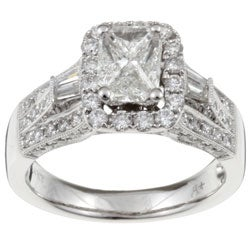 14k Gold 'Emerillion' 1 1/2ct TDW Diamond Ring