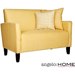 Angelo Home Sutton Sunflower Yellow Loveseat Overstock Shopping Great Deals On Angelohome
