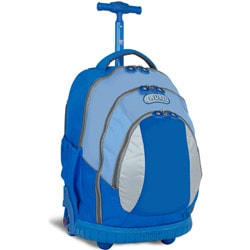 J World Kid&#39;s Ergonomic Sky Blue 17-inch Rolling Backpack