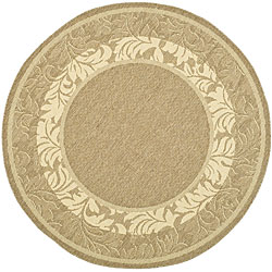 Safavieh Indoor/ Outdoor Beachview Brown/ Natural Rug (6'7 Round)
