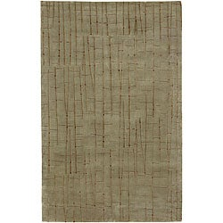 Julie Cohn Hand-knotted Beige Royal Abstract Design Wool Rug (9' x 13')