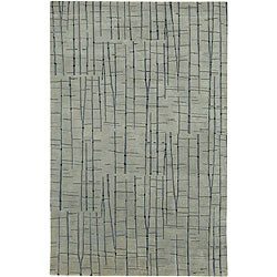 Julie Cohn Hand-knotted Blue Royal Abstract Design Wool Rug (8' x 11')