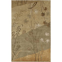 Hand-knotted Karur New Zealand Wool Rug (8' x 11')
