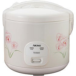 Aroma 10-cup Cooked Capacity Cool-touch Floral Rice Cooker