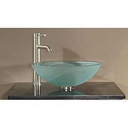 Tempered Frosted Glass Sink Vessel