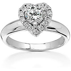 14k Gold 3/4ct TDW Diamond Heart-shape Engagement Ring (HI, I1-I2)