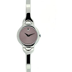 Movado Women's Kara Pink Metallic Dial Stainless Steel Watch