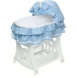 Portable 2-in-1 Bassinet and Cradle with Toy Box Base