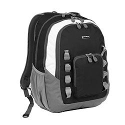 J World &#39;Willow&#39; Black 20-inch School Laptop Backpack