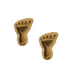 14k Yellow Gold Foot Stud Earrings