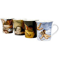 Konitz 'Angel' 12-ounce Assorted Design Mugs (Set of 4)