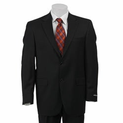 Austin Reed Men's Solid Black Suit