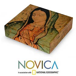 'Beloved Virgin of Guadalupe' Decoupage CD Box (Mexico)