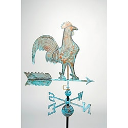 Full Size Copper Patina Rooster Weathervane