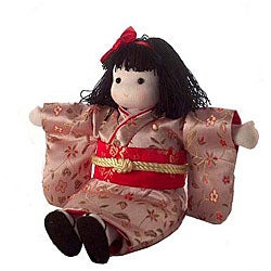 'Peach' Japanese Collectible Musical Doll