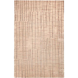 Julie Cohn Hand-knotted Blue Abstract Design Wool Rug (4' x 6')