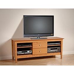 Woodhaven Oak 60-inch Flat Panel TV Console