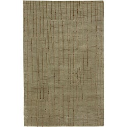 Julie Cohn Hand-knotted Royal Abstract Design Wool Rug (4' x 6')