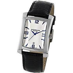 Stuhrling Original Men's Gatsby Classic Black-Strap Swiss Quartz Watch