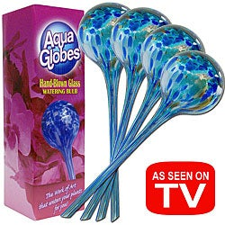AS SEEN ON TV Aqua Globe Watering Bulbs (Set of 4)