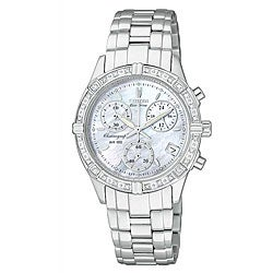 Citizen Women's Eco-drive Miramar Stainless Steel Diamond Watch.