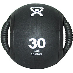 Cando 30-pound Dual-handle Black Medicine Ball