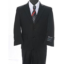 Ferrecci Boys' Solid Black 2-button Suit