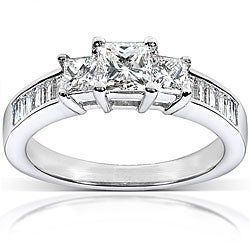 14k White Gold 1ct TDW Princess Diamond Ring (H-I, I1-I2)