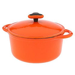 Rachael Ray Orange Cast Iron 3 5 Quart Covered Casserole