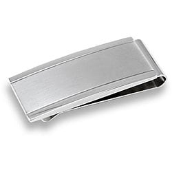 West Coast Jewelry Stainless Steel Men's Brushed and Polished Money Clip