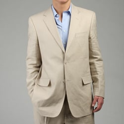 Adolfo Men's 2-button Tan Linen Sportcoat  FINAL SALE
