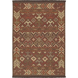 Hand-knotted Multi Wool Laredo Rug (3'6 x 5'6)