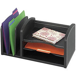 Safco Faux Leather 3-shelf Organizer