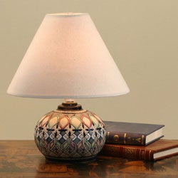 Ceramic 'Light of Night' Lamp (Mexico)