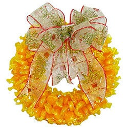 Butterscotch Candy Wreath