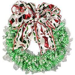 Spearmint Twist Candy Wreath