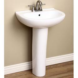 Pedestal Sink Backsplash : Detailed Back Splash White Pedestal Sink - 12416470 - Overstock.com ...