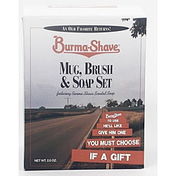 Burma Shave Mug, Brush and Soap Sets (Pack of 4)