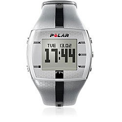 Polar FT4M Men's Silver/ Black Heart Rate Monitor