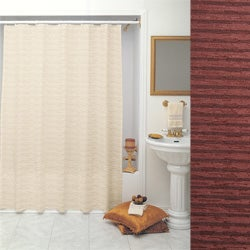 Vibrations Burgundy Shower Curtain