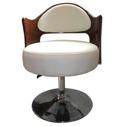 Caravan Bicast Leather Adjustable Leisure Chair White