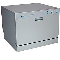 DWP60ES Portable Silver Countertop Dishwasher - 12420254 - Overstock ...