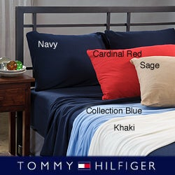 Tommy Hilfiger Jersey Knit 4-piece Egyptian Cotton Sheet Set